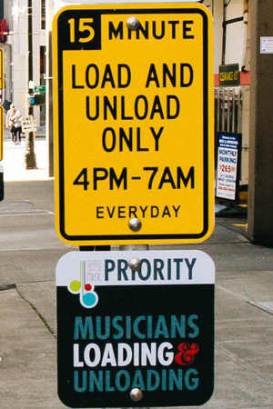 musician priority parking